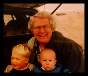 Me and my brother with Grandpa Jack, 1987