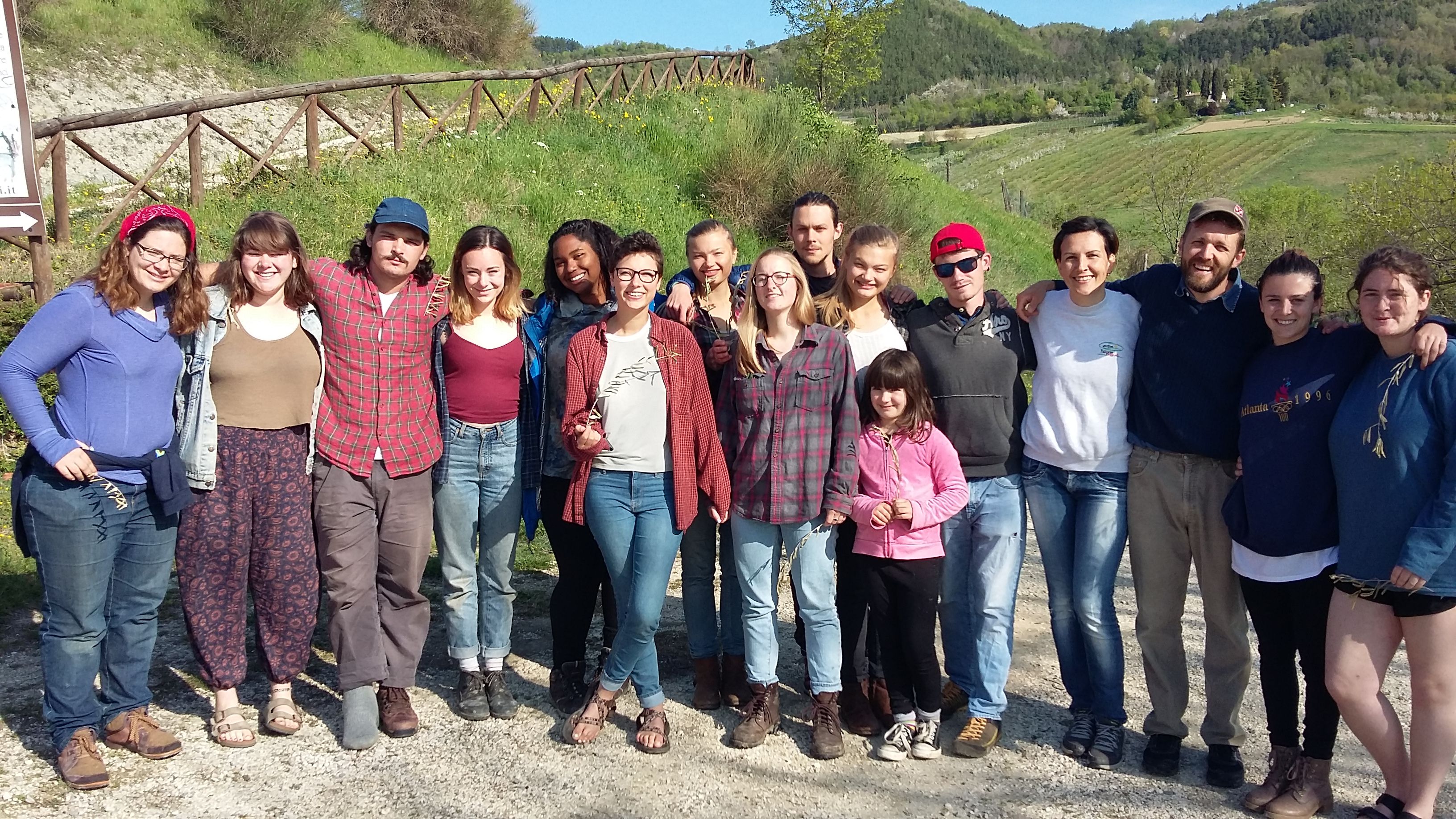 Guilford College students in Italy
